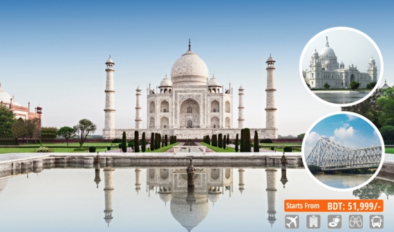 Golden Triangle Tour with Kolkata